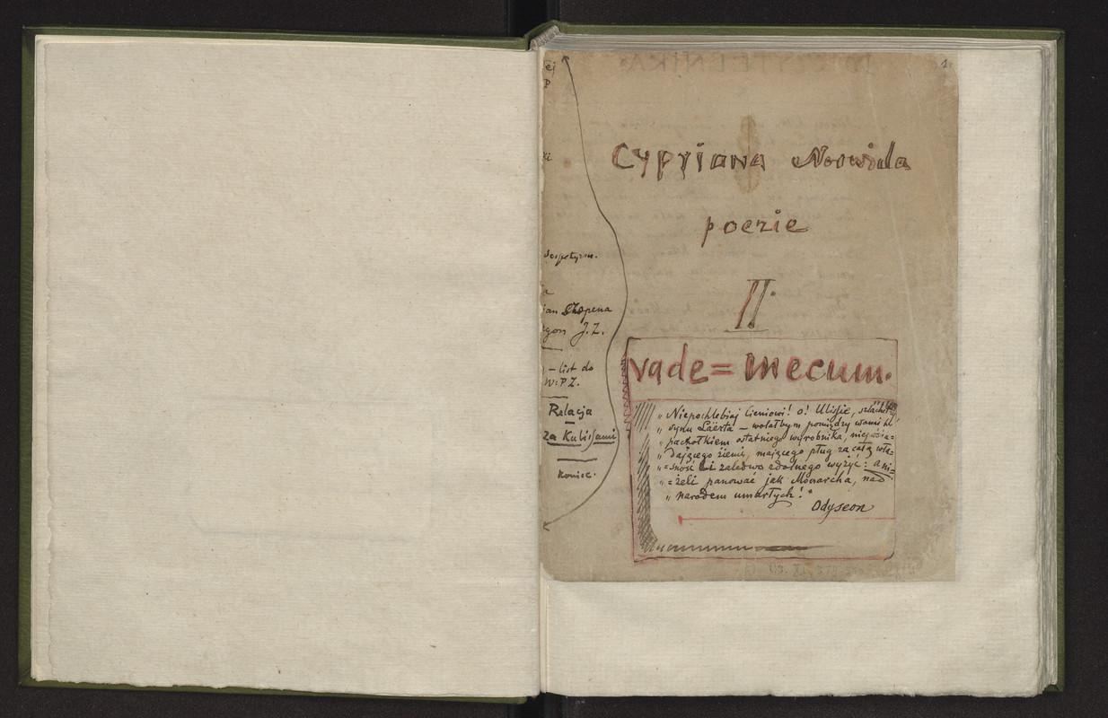 Poezje Ii Vade Mecum Norwid Cyprian Kamil Polona
