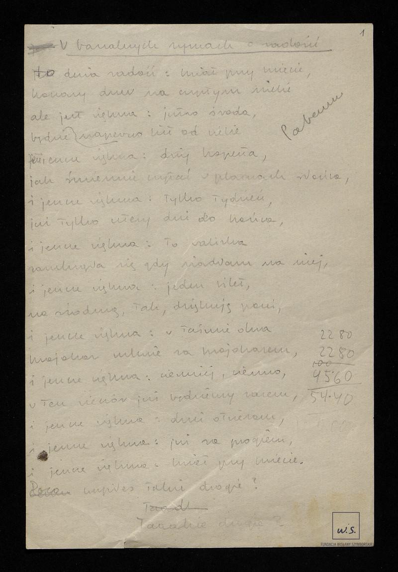 Wiersze Opublikowane W Tomikach Z Lat 1952 1993 Bruliony I