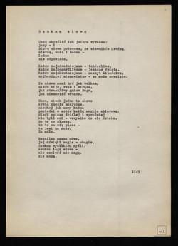 Wiersze Z Lat 1945 1950 Przygotowane Do Tomu Czarna