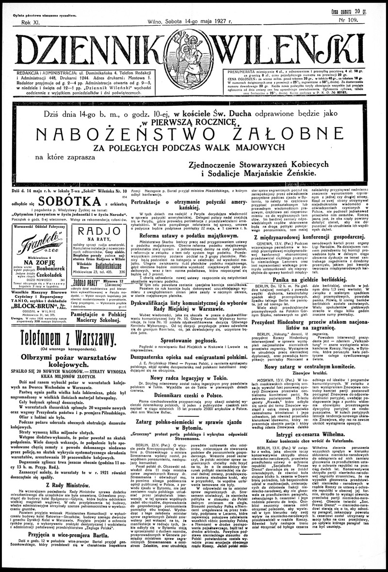 Dziennik Bydgoski, (R. 21), 1932, Nr 109.