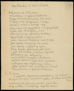 Odpisy Wierszy Krzysztofa Kamila Baczyńskiego Polona