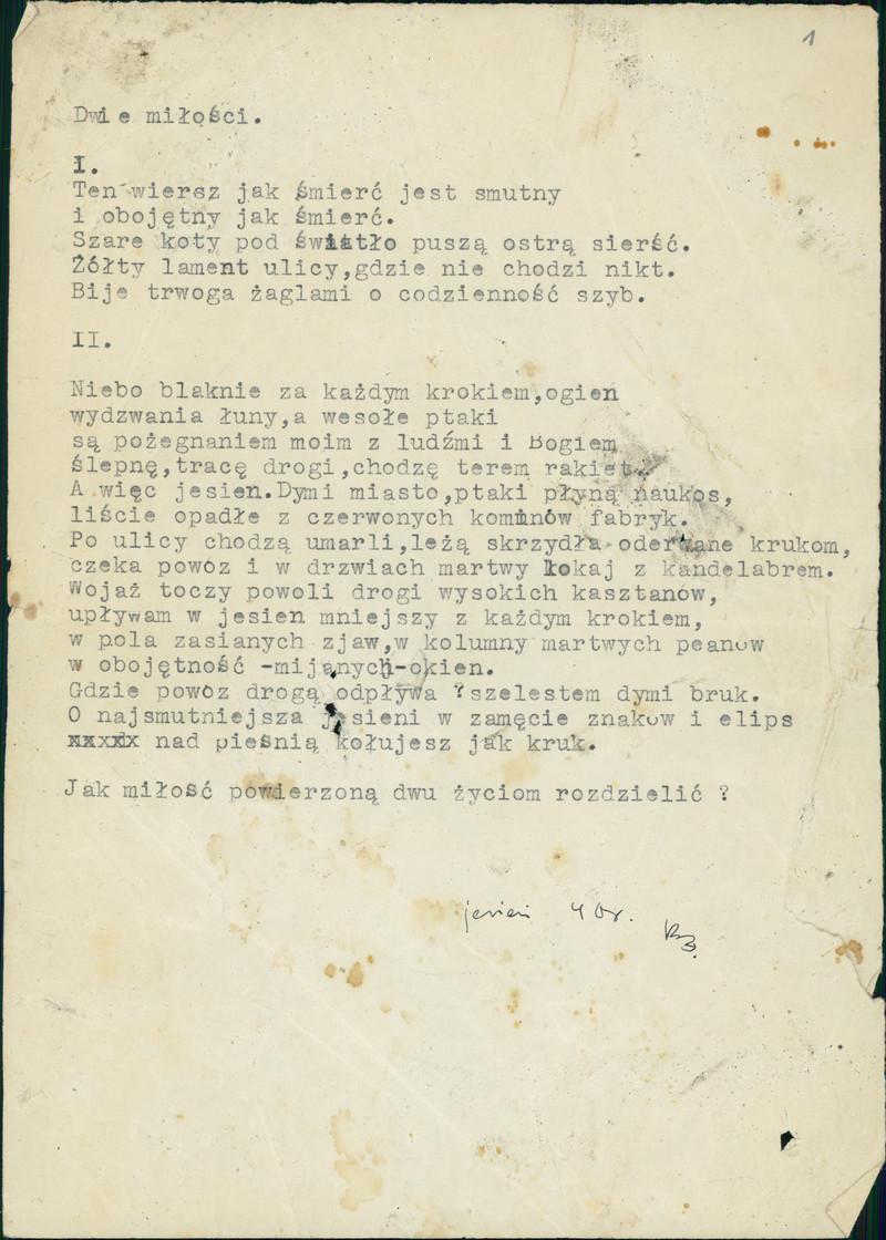 Wiersze Baczyński Krzysztof Kamil Polona
