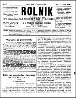 Rolnik Czasopismo Rolniczo Przemysłowo Handlowe Organ