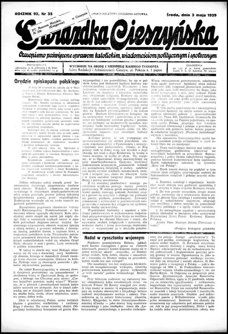 Gwiazdka Cieszyńska Pismo Naukowe I Zabawne R92 Nr 35 3