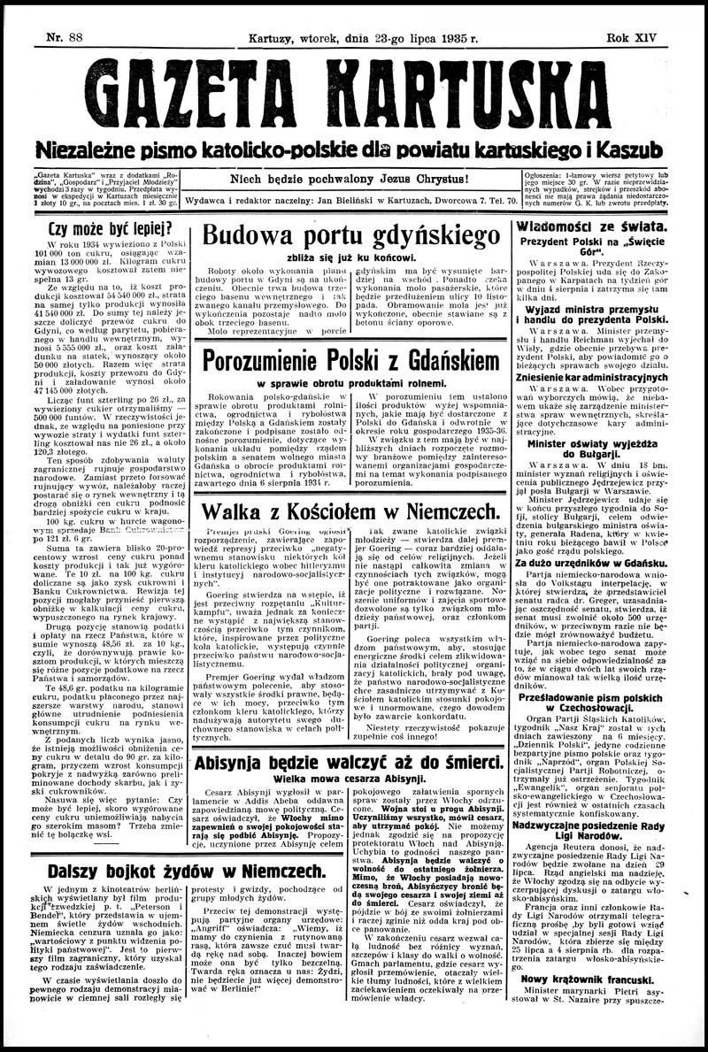 Gazeta Kartuska Bezpartyjne Pismo Katolicko Polskie Dla