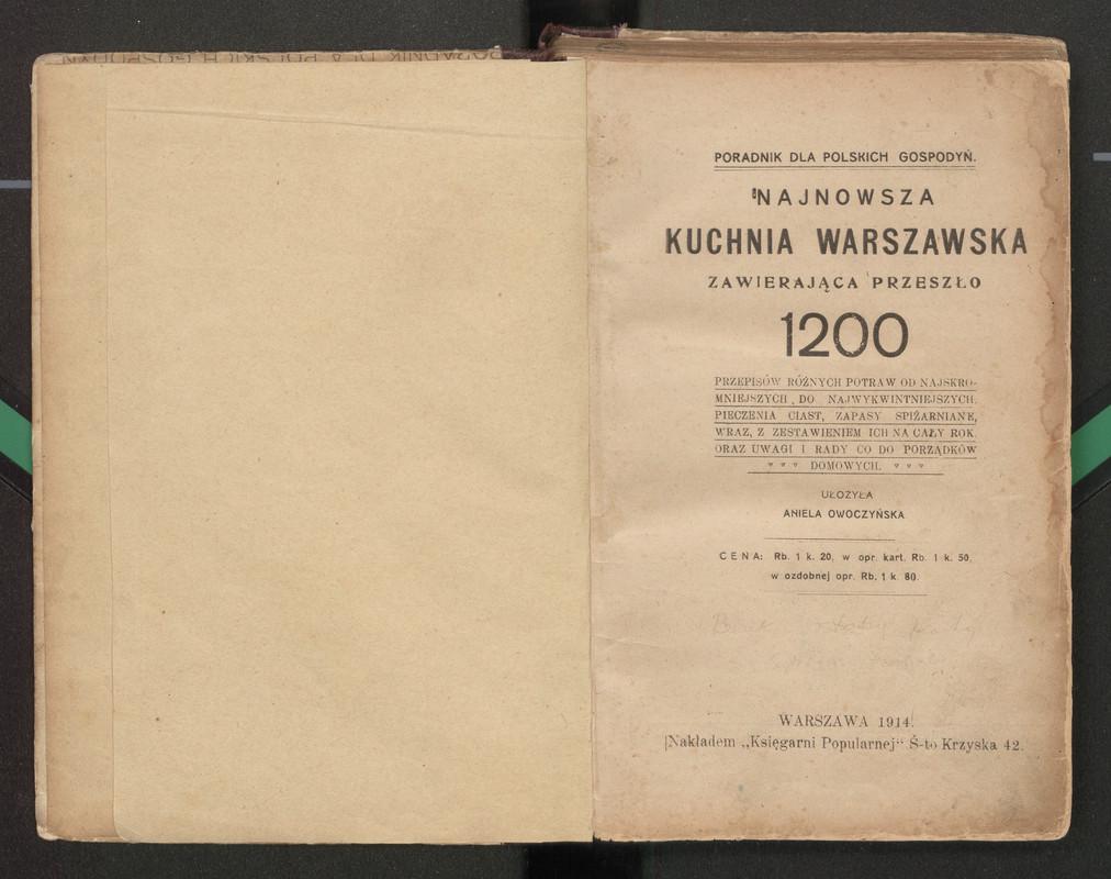 Kucharz Doskonały Collection Created By Biblioteka