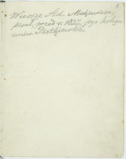 Odpisy Wierszy Adama Mickiewicza Mickiewicz Adam Polona